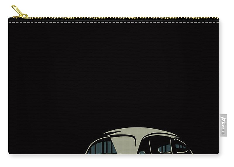 Bug Carry-all Pouch featuring the digital art Vw Beatle by Sassan Filsoof