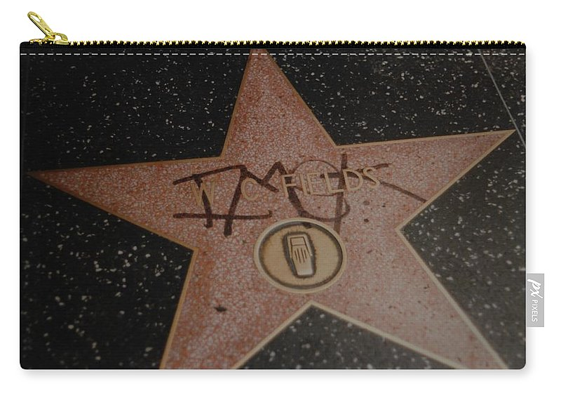 Hollywood Carry-all Pouch featuring the photograph W C Fields Star by Rob Hans