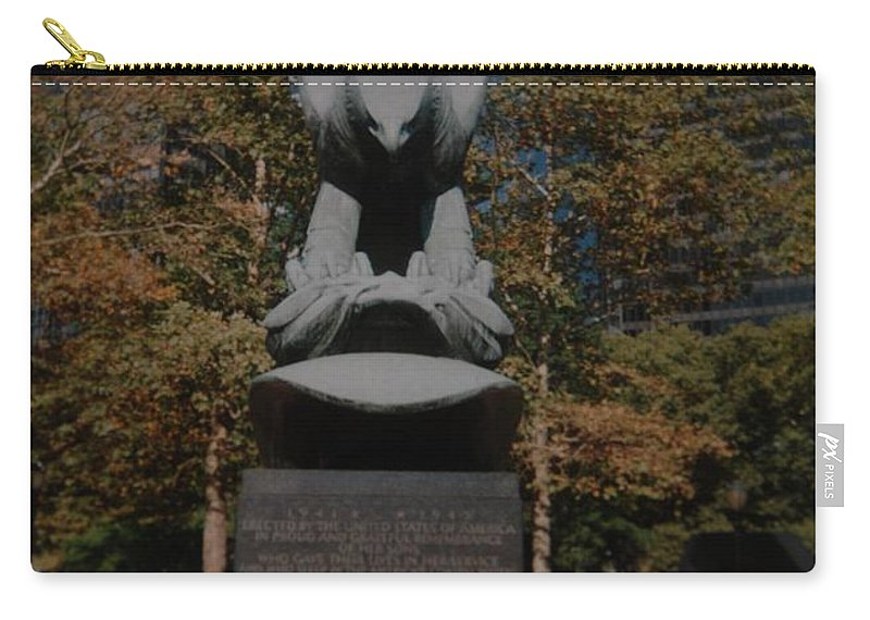 Ww Ii Carry-all Pouch featuring the photograph W W II Eagle by Rob Hans
