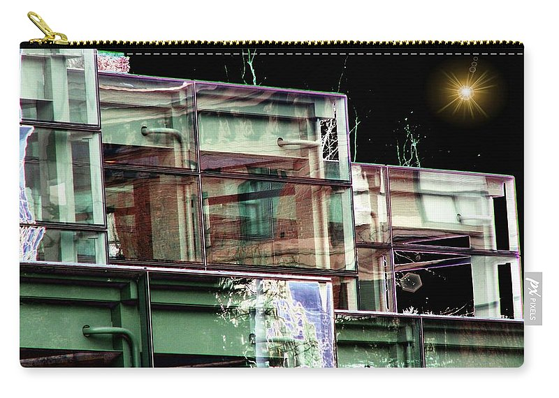 Seattle Carry-all Pouch featuring the digital art Wa State Convention And Trade Center by Tim Allen