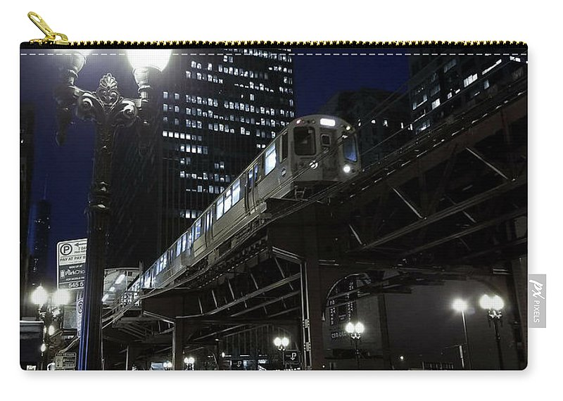 Chicago Carry-all Pouch featuring the photograph Wabash El by Sue Conwell