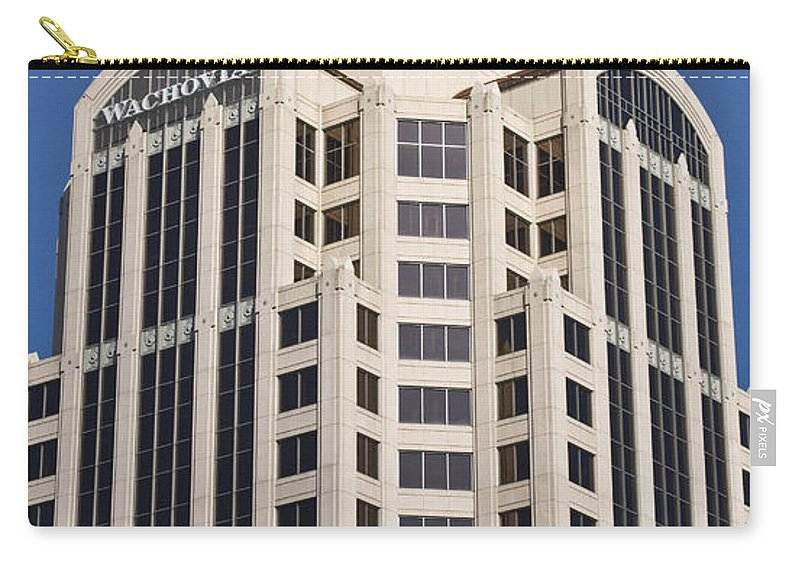 Roanoke Carry-all Pouch featuring the photograph Wachovia Tower Roanoke Virginia by Teresa Mucha