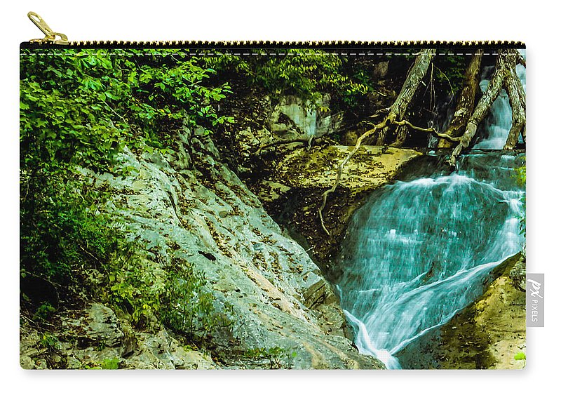 Forest Carry-all Pouch featuring the photograph Wader's Hunt by Anthony Rodrigues