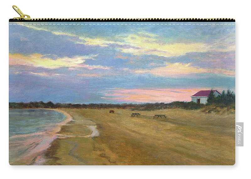 Oil Landscape Carry-all Pouch featuring the painting Wades Beach Sundown Study II by Phyllis Tarlow