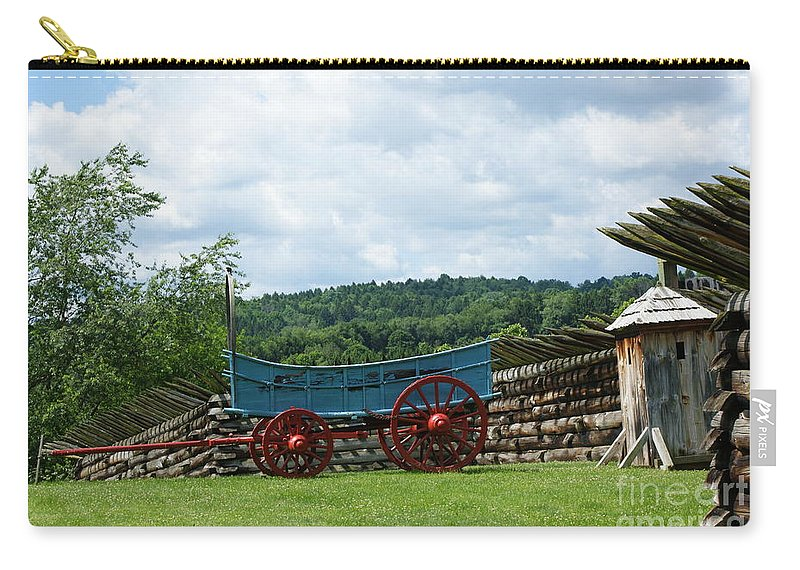 History Carry-all Pouch featuring the photograph Wagon Hoa by Judy Carr