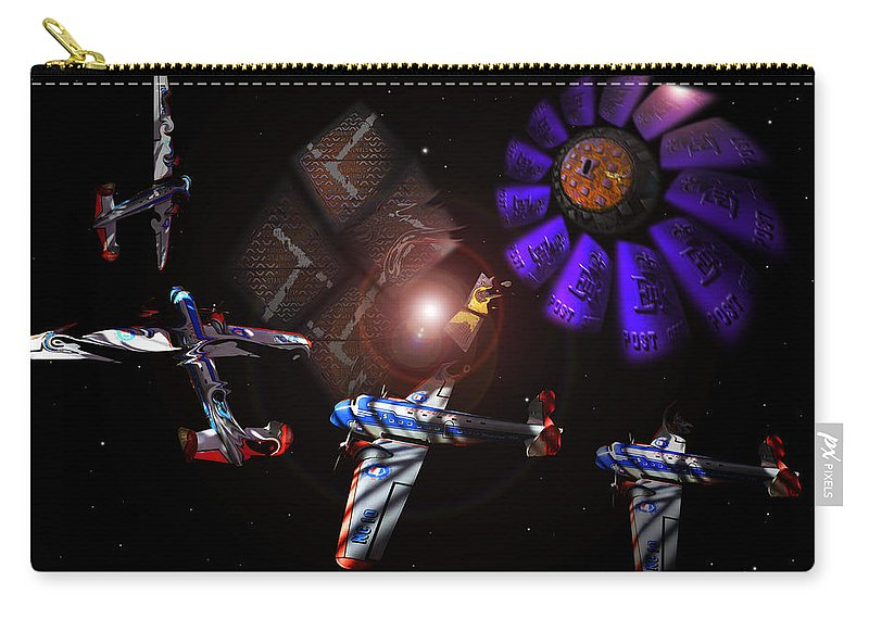 Vortex Carry-all Pouch featuring the digital art Wagon Train To The Stars by Charles Stuart