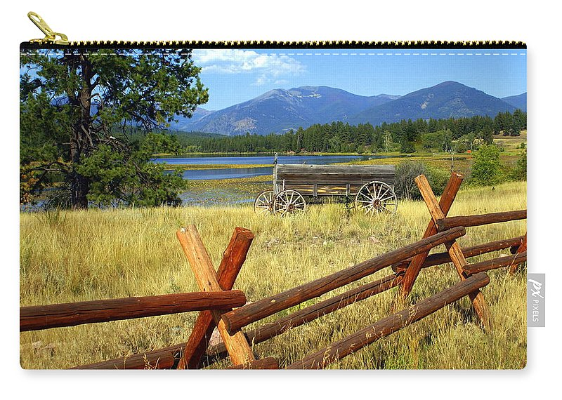 Landscape Carry-all Pouch featuring the photograph Wagon West by Marty Koch