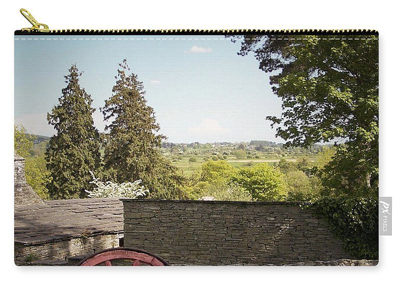 Irish Carry-all Pouch featuring the photograph Wagon Wheel County Clare Ireland by Teresa Mucha