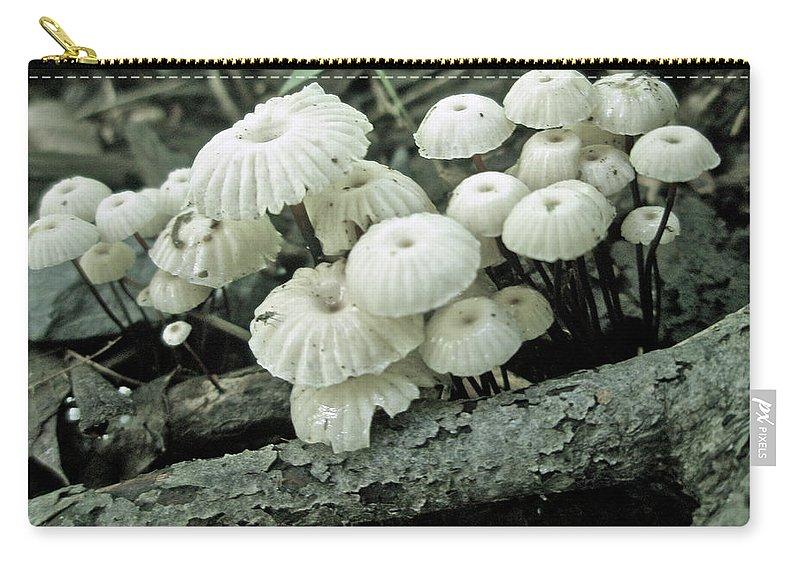 Mushroom Carry-all Pouch featuring the photograph Wagon Wheel Mushroom Colony by Mother Nature