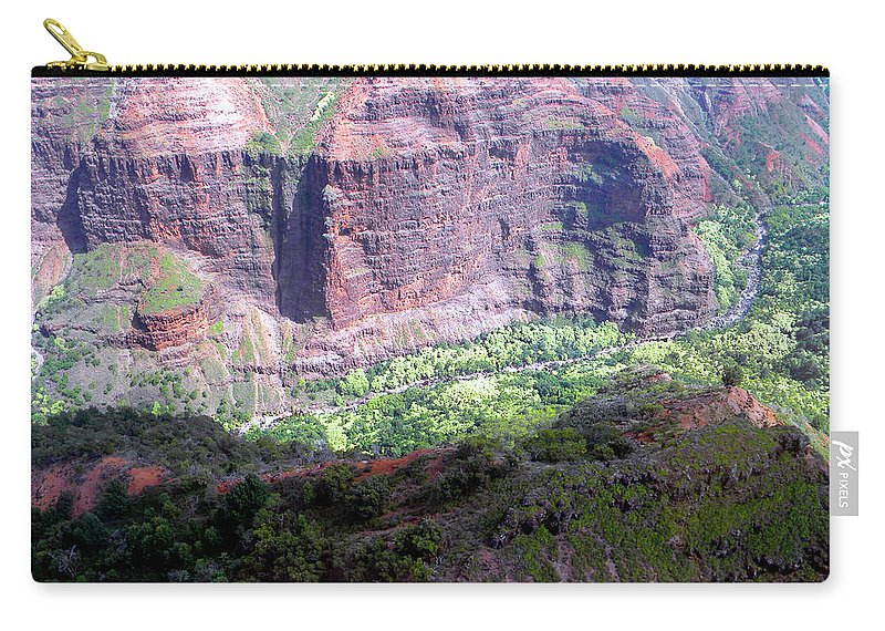 Frank Wilson Carry-all Pouch featuring the photograph Waiamea Canyon Walls by Frank Wilson