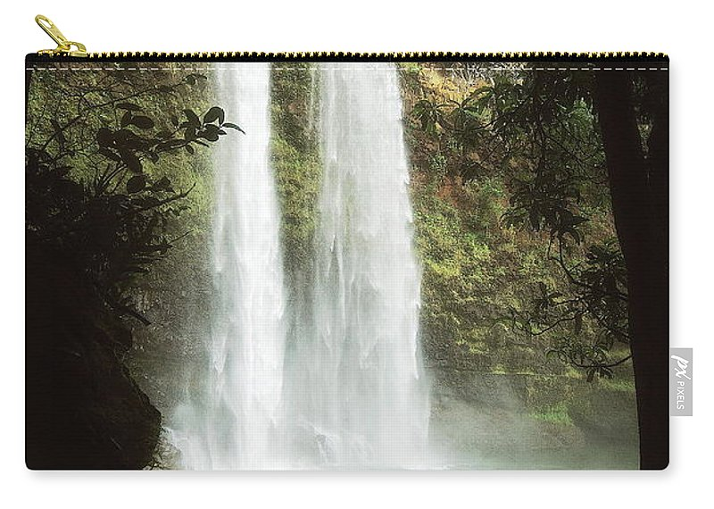 Waterfall Carry-all Pouch featuring the photograph Wailua Falls 3 by Michael Peychich