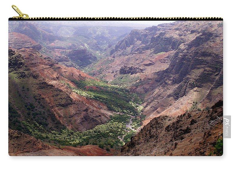 Waimea Carry-all Pouch featuring the photograph Waimea Canyon 1 by Amy Fose