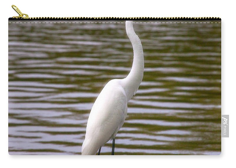 Egret Carry-all Pouch featuring the photograph Wait And Rest by Mykel Davis