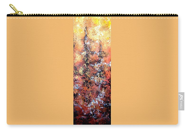 Tile Carry-all Pouch featuring the painting Wait For Sleep by Shadia Derbyshire