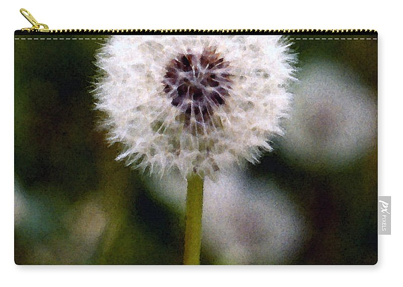 Dandelion Carry-all Pouch featuring the painting Waiting For A Breeze by Paul Sachtleben