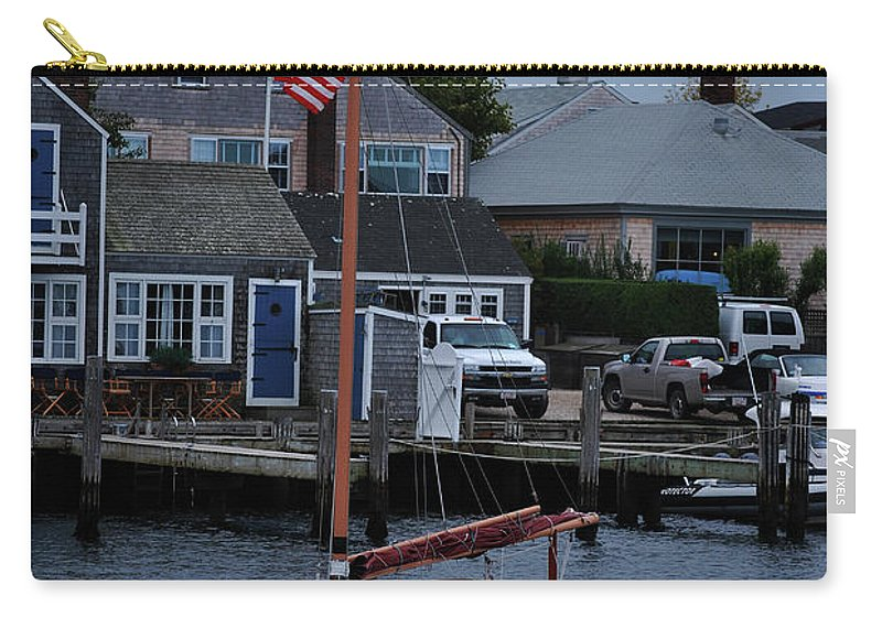 Sailboat Carry-all Pouch featuring the photograph Waiting For A Captain by Lori Tambakis