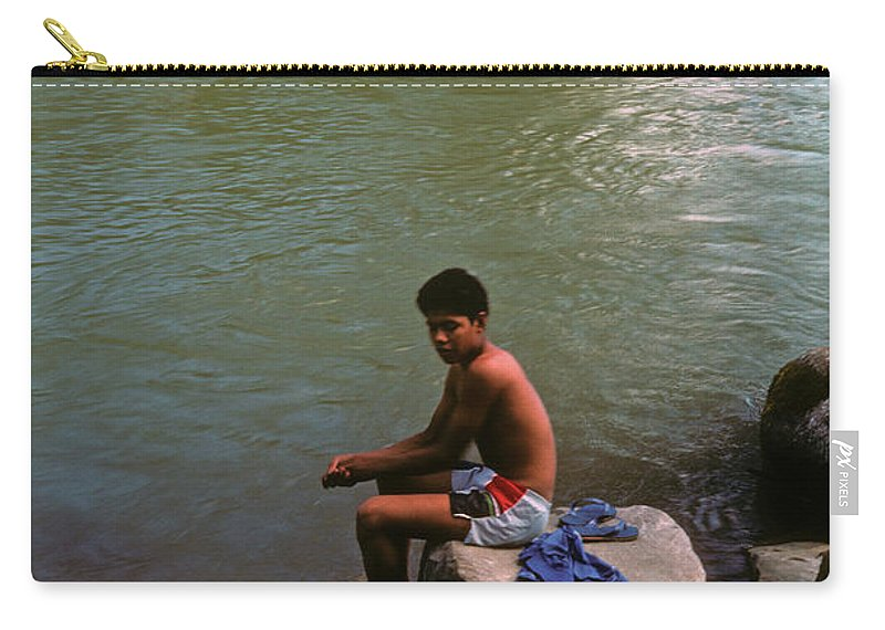 Belize Carry-all Pouch featuring the photograph Waiting For A Fish by Gary Wonning