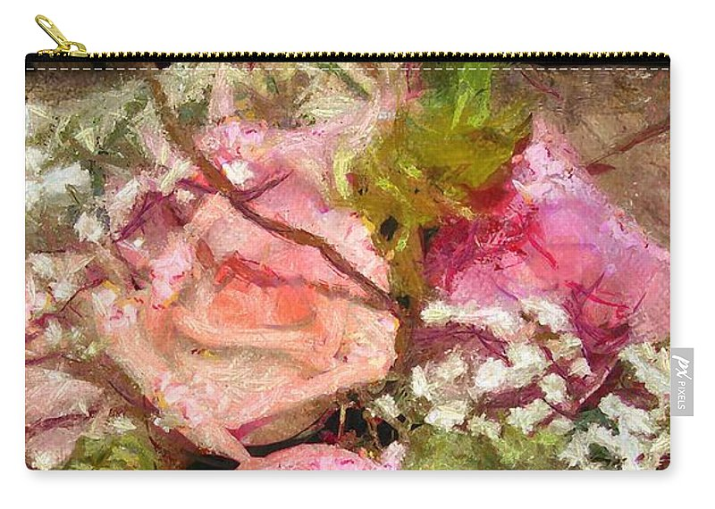 Baby's Breath Carry-all Pouch featuring the photograph Waiting For Company by Susan Eileen Evans