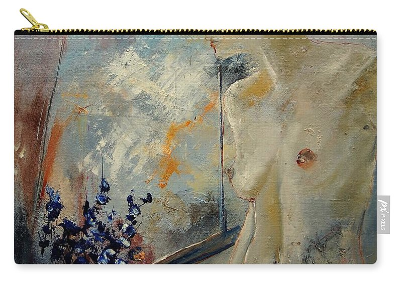 Girl Carry-all Pouch featuring the painting Waiting For Her Lover by Pol Ledent