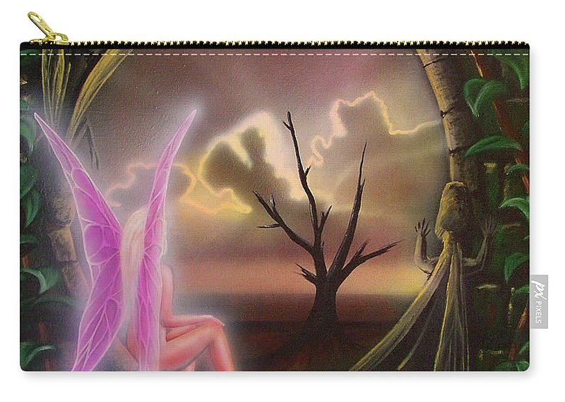 Fairy Carry-all Pouch featuring the painting Waiting For Spring by Shaun McNicholas