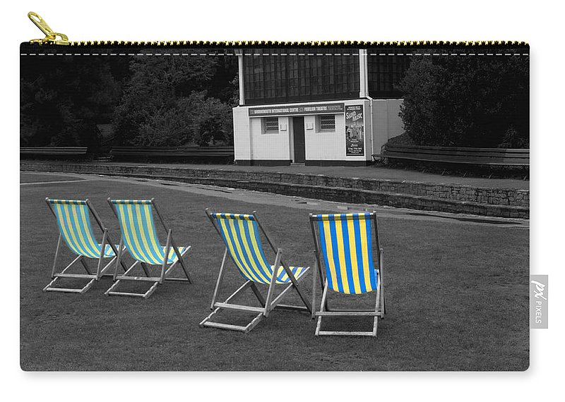 Deckchair Carry-all Pouch featuring the photograph Waiting For The Band by Chris Day