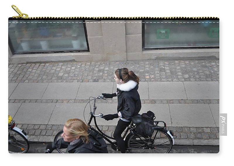 Copenhagen Carry-all Pouch featuring the photograph Waiting For The Light by Kat Cortez