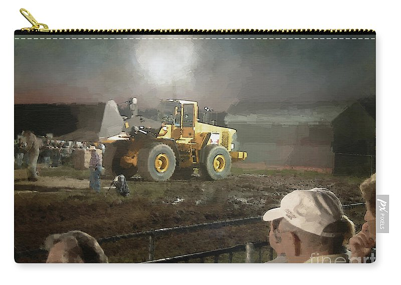 Americana Carry-all Pouch featuring the painting Waiting For The Pull by RC DeWinter