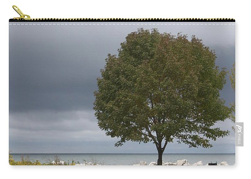 Tree Carry-all Pouch featuring the photograph Waiting For The Storm by Lauri Novak