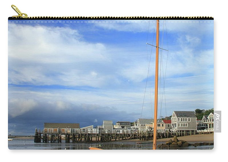 Sailboat Carry-all Pouch featuring the photograph Waiting For The Tide by Roupen Baker
