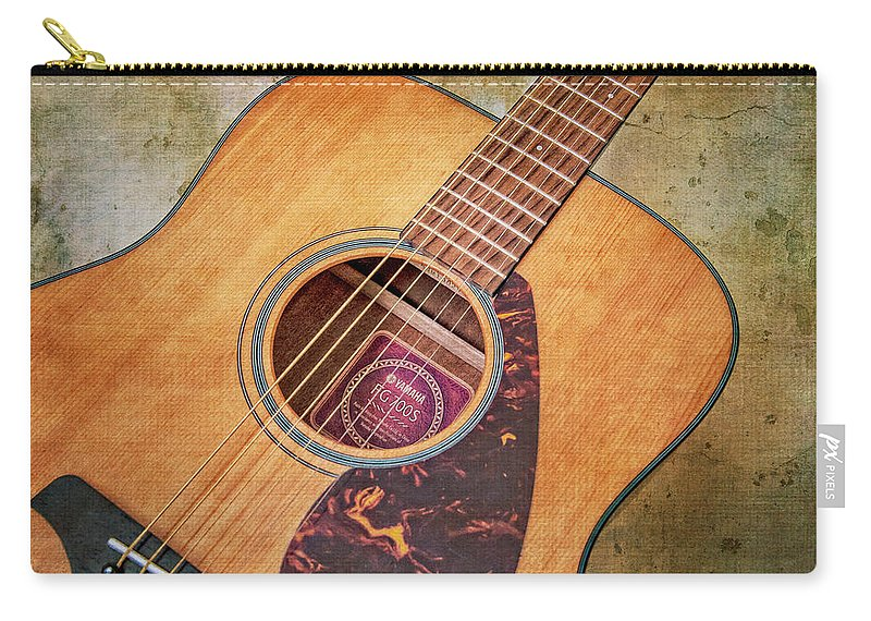 Guitar Carry-all Pouch featuring the photograph Waiting Here Now by Emily Kay