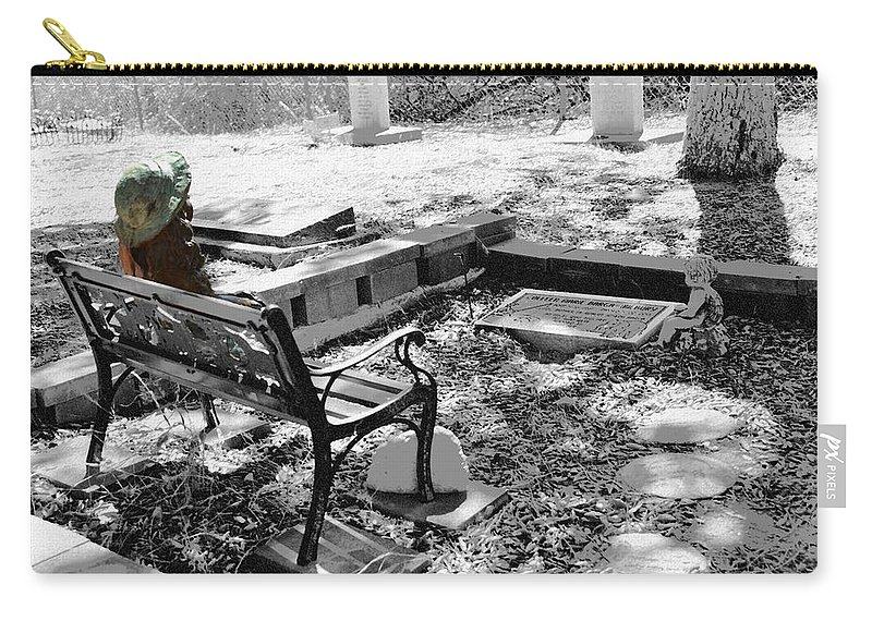 Cemetery Carry-all Pouch featuring the photograph Waiting by Michael Brown