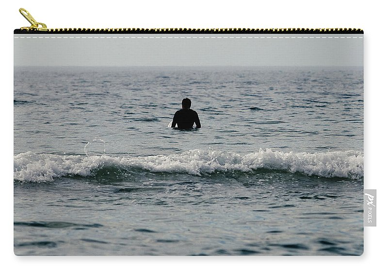Surf Carry-all Pouch featuring the photograph Waiting by Nicole Swanger
