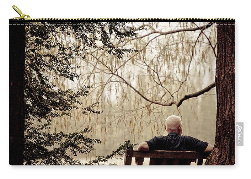 Man Carry-all Pouch featuring the photograph Waiting On A Friend by Trish Tritz