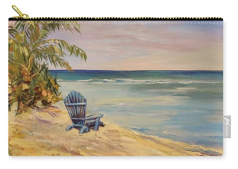 Chair Carry-all Pouch featuring the painting Waiting On The Tide by Nadia Bindr
