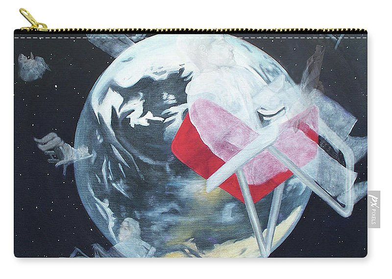Reincarnation Carry-all Pouch featuring the painting Waiting To Be Reincarnated by Larry Rice