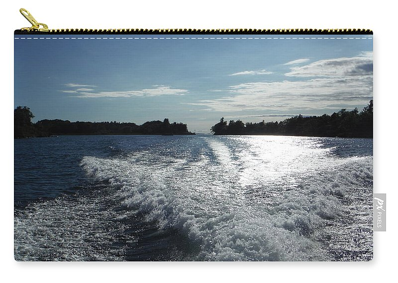 #st Lawrence Carry-all Pouch featuring the photograph St. Lawrence Intercoastal Waterway by Jacqueline Whitcomb