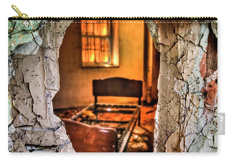 Bed Carry-all Pouch featuring the photograph Wake Up And Smell The Misery by Evelina Kremsdorf