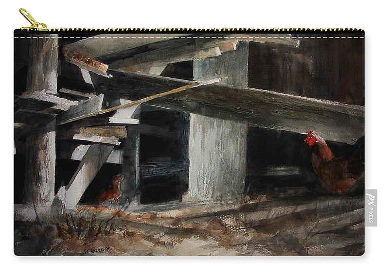 Landscape Carry-all Pouch featuring the painting Wakeup Call by Rachel Christine Nowicki