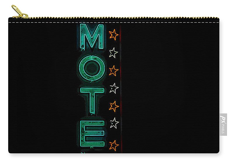 Art Carry-all Pouch featuring the painting Walden Motel Las Vegas by David Lee Thompson