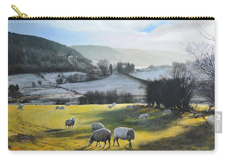 Wales Carry-all Pouch featuring the painting Wales. by Harry Robertson