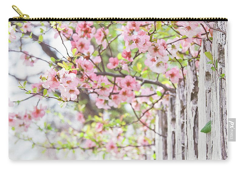 Flowers Carry-all Pouch featuring the photograph Walk In The Neighborhood by Toni Hopper