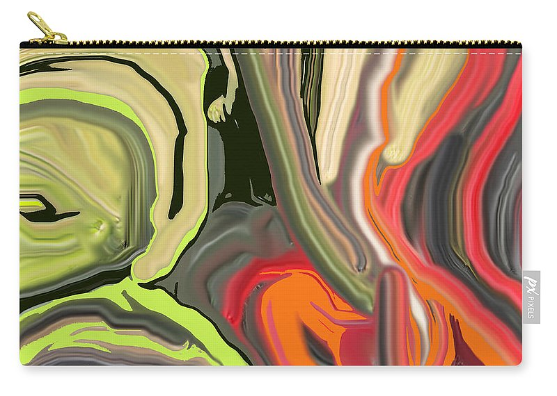 Abstract Carry-all Pouch featuring the digital art Walk In The Park by Ian MacDonald