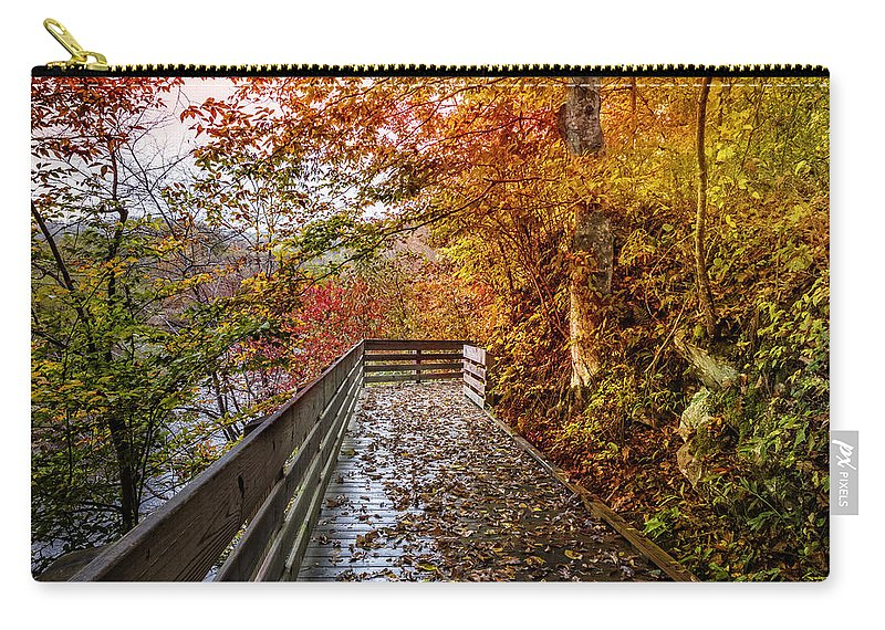 Appalachia Carry-all Pouch featuring the photograph Walk Into Autumn by Debra and Dave Vanderlaan