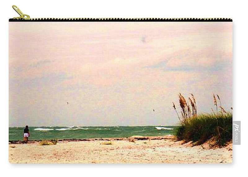 Florida Carry-all Pouch featuring the photograph Walk The Beach by Ian MacDonald