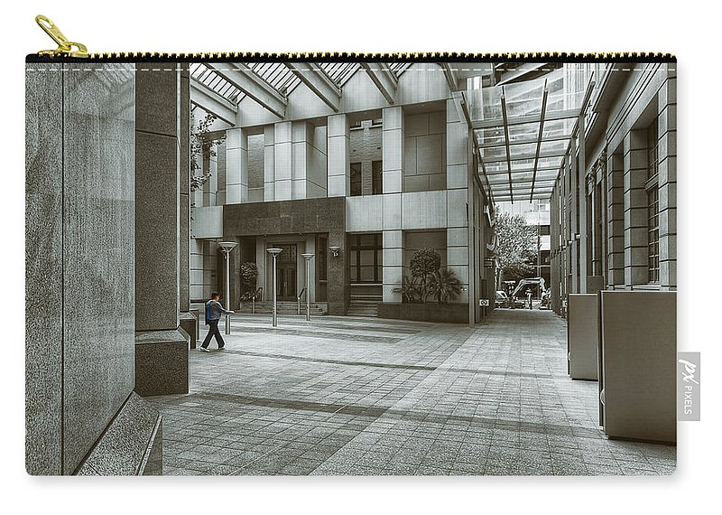 Architecture Carry-all Pouch featuring the photograph Walk The Walk by Wayne Sherriff