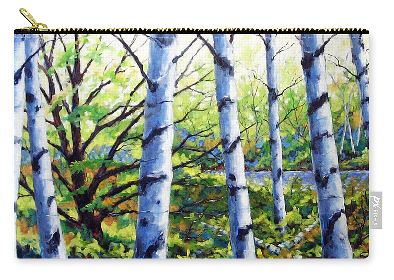 Lake Carry-all Pouch featuring the painting Walk To The Lake by Richard T Pranke