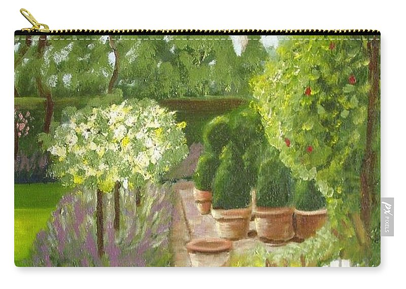 Garden Carry-all Pouch featuring the painting Walk With Me by Laurie Morgan