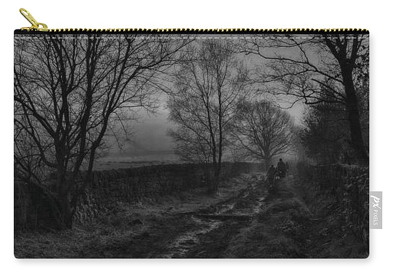Photography Carry-all Pouch featuring the photograph Walking In A Muddy Lane by William Eiffert