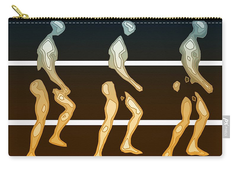 Abstract Carry-all Pouch featuring the digital art Walking In Line by Joaquin Abella