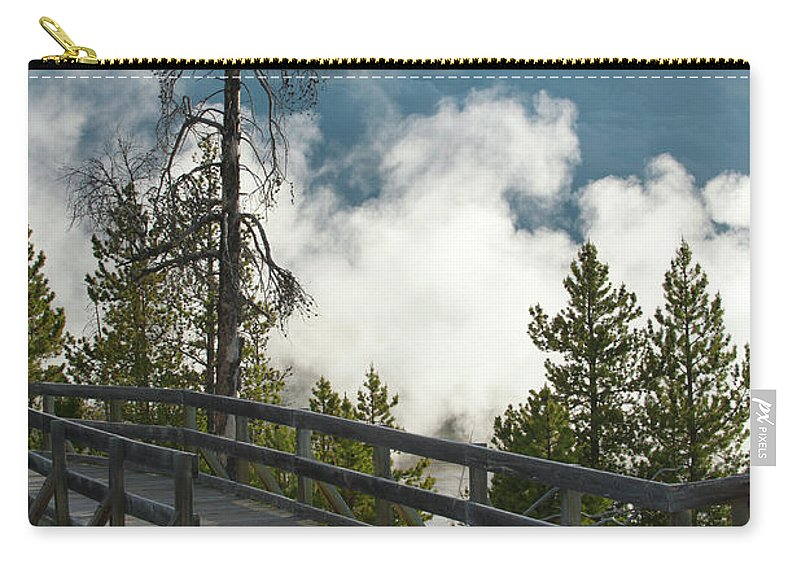 Yellowstone National Park Carry-all Pouch featuring the photograph Walking Into The Unknown by Sandra Bronstein